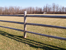 Split rail wood fence Royalty Free Stock Photography