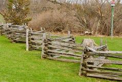 Split-rail wooden fence Stock Image