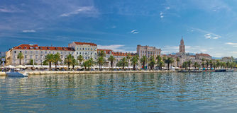 Split Riva view with Diocletian palace Stock Photos