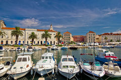 Split Riva waterfront colorful view Royalty Free Stock Photos