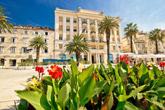 Split Riva waterfront nature and architecture Stock Photos