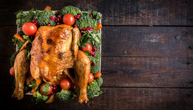 Split roasted chicken Royalty Free Stock Images
