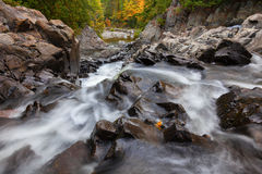 Split Rock Falls Adirondacks. View of split rock falls in adirondacks in Autumn stock image