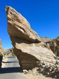 Split Rock Slice at Palm Springs. Split Rock formation at Indian Canyons in Palm Springs, California stock photos