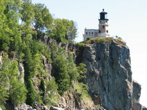 Split Rock Light House. From the shore of Lake Superior Royalty Free Stock Photos