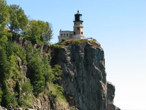 Split Rock Light House. From the shore of Lake Superior Stock Photography