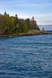 Split Rock Lighthouse. On shoreline of Lake Superior, Silver Bay, Minnesota, U.S.A Stock Images