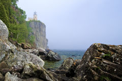 Split Rock Lighthouse, Fog Stock Images