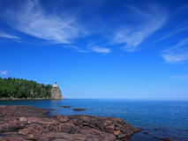 Split Rock lighthouse on lake Superior Stock Images