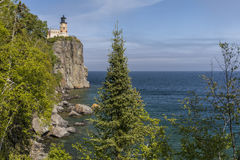 Split Rock Lighthouse On Lake Superior. A lighthouse on a cliff along Lake Superior in Minnesota Stock Photography