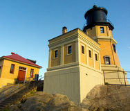 Lighthouse, Split Rock, Lake Superior, Minnesota. Split Rock Lighthouse Warns of Danger to Shipping Royalty Free Stock Photography