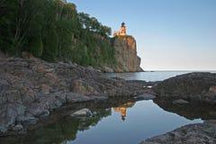 Split Rock Lighthouse Reflection. Split Rock Lighthouse on Lake Superior in Minnesota Royalty Free Stock Photo