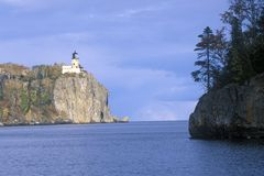 Split Rock Lighthouse in the  Split Rock Lighthouse State Park on Lake Superior, MN Royalty Free Stock Image