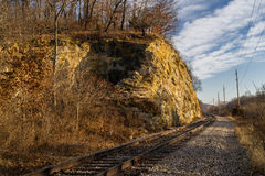 Split Rock. Originally built in the 1850's along the I & M Canal near LaSalle, Illinois, U.S.A Royalty Free Stock Photos