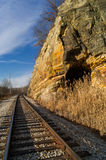 Split Rock. Originally built in the 1850's along the I & M Canal near LaSalle, Illinois, U.S.A Royalty Free Stock Image
