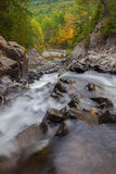 Split Rock Waterfalls. Split rock falls in autumn located in Adirondacks Ny royalty free stock image