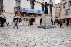 Split`s Old Town, SPLIT, CROATIA. SPLIT, CROATIA - NOVEMBER 5, 2014 : Split`s Old Town stock images