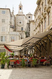 Split. Seaside Restaurant. SPLIT, CROATIA - MAY 19, 2013: people are taking a brake in one of the street cafe in Split. On May 19, 2013, in Split, Croatia Royalty Free Stock Photography