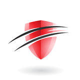Split Shield Icon Royalty Free Stock Photography