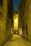 Split streets stock photos