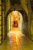 Split streets royalty free stock photo