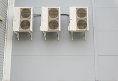 Split systems on a wall of modern building. Stock Image
