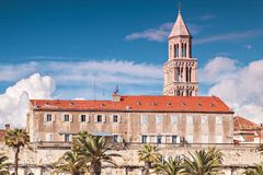 Split town architecture Royalty Free Stock Photography