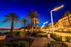 Split town at night, Croatia Europe. Stock Image
