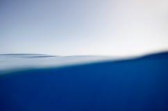 Split underwater and sky background Stock Photo