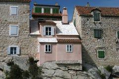 Split velho do exterior da casa   Fotografia de Stock Royalty Free