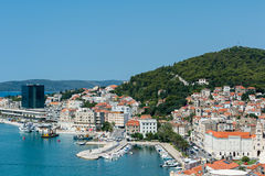Split- view of coastline and the part of old town. Stock Images