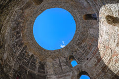 Split view of Diocletian Mausoleum Dome, Croatia Royalty Free Stock Photo