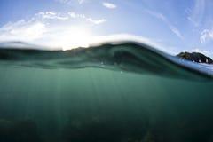 Split View Water Stock Image