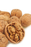 Split walnut Stock Images