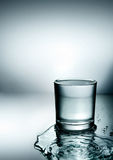 Split Water Glass Royalty Free Stock Images