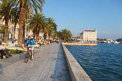 Split waterfront Royalty Free Stock Photo