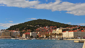 Split waterfront and Marjan city park Royalty Free Stock Photography