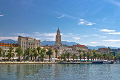 Split waterfront palm promenade view Royalty Free Stock Photo