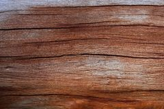 Split wood. A piece of red weathered timber Royalty Free Stock Photos