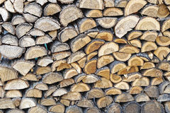 Split wood. Big bunch of split wood for winter Royalty Free Stock Photography