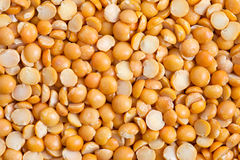 Split yellow peas Stock Image