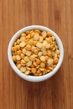Split yellow peas in a bowl Royalty Free Stock Photography