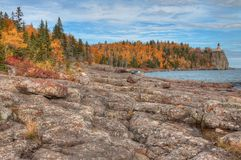 Splitrock Lighthouse is a popular State Park during all Seasons. In Minnesota Royalty Free Stock Photos