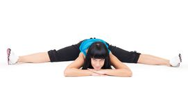 Splits exercise Stock Photography