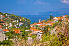 Splitska-Bucht auf Brac-Inselansicht Stockfoto