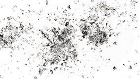 splitted或破裂的玻璃锋利的片断  皇族释放例证