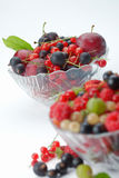 Splitted berries in a bowl Stock Images