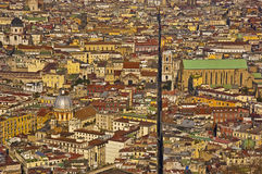 The splitted city, naples, italy Stock Image