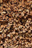 Splitted firewood texture. Gathered splitted firewood pieces texture Royalty Free Stock Image