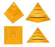 Splitted Pyramid Royalty Free Stock Images